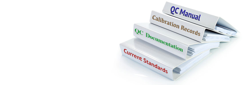 We can help you develop a quality control program including development of QC documentation